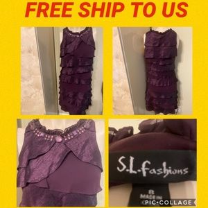 👗S.L. FASHIONS DRESS SIZE 8👗EXCEL. .COND.👗